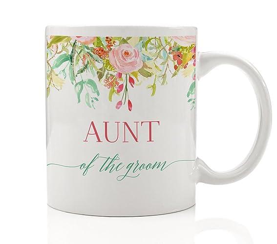 aunt of the groom coffee mug gift idea for wedding engagement bridal shower rehearsal dinner favor