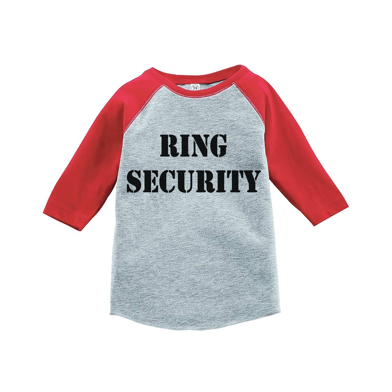 Custom Party Shop Youth Boy's Ring Security Wedding Red Raglan Large