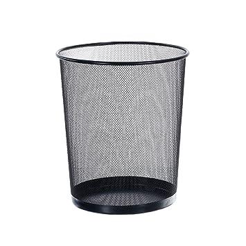 Papierkorb Schwarz/Silber Runde Mesh Bin -Medium