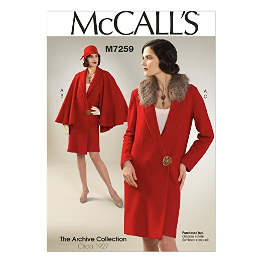1920s Patterns – Vintage, Reproduction Sewing Patterns 1920s Coat Detachable Cape & Collar A5 (6-8-10-12-14) $7.99 AT vintagedancer.com