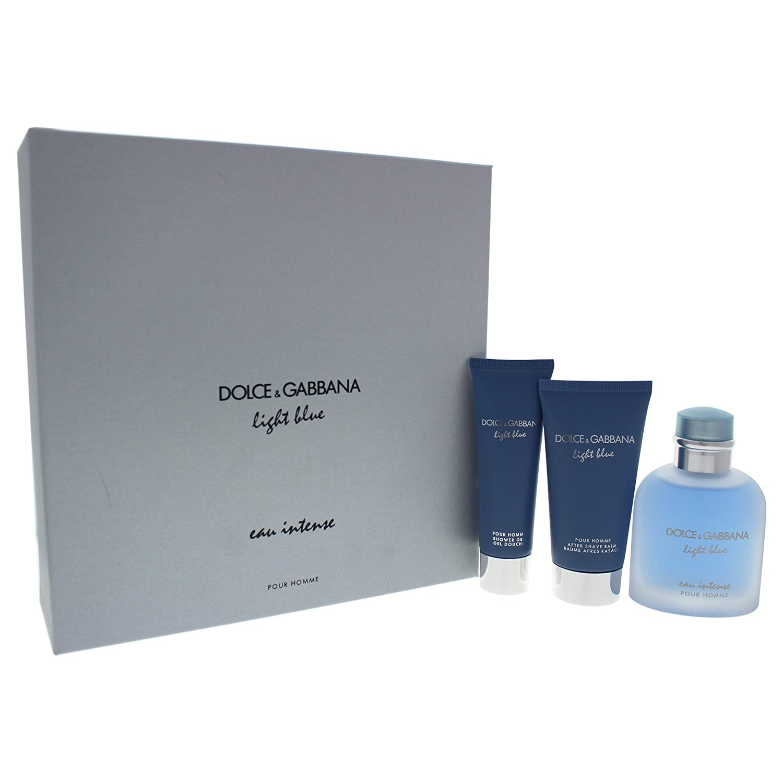 Amazon.com : DOLCE\u0026GABBANA 3-Pc. Light Blue Eau Intense Pour Homme Gift Set Beauty