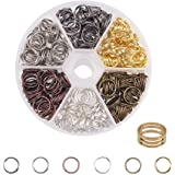 PandaHall Elite About 200 Pcs Iron Split Rings Double Loop Jump Ring Diameter 10mm for Jewelry Making 6 Colors
