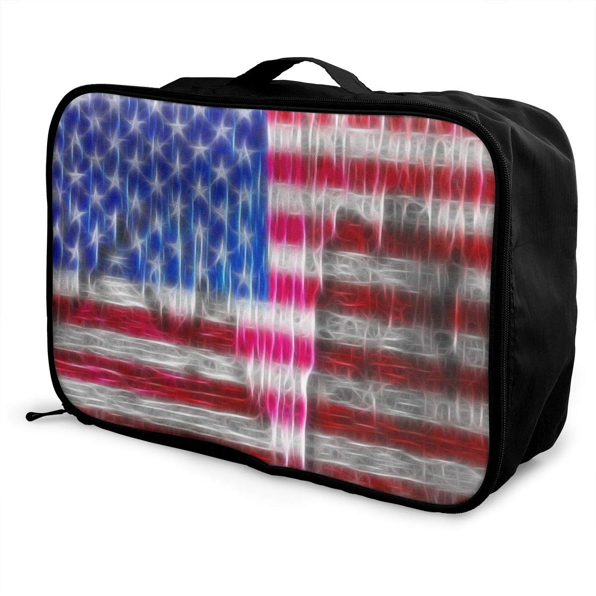 YueLJB Old Glory USA Flag Lightweight Large Capacity Portable Luggage Bag Travel Duffel Bag Storage Carry Luggage Duffle Tote Bag