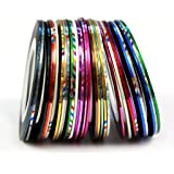 NYKKOLA 30 Color Rolls Striping Tape Line Nail Art Decoration Sticker