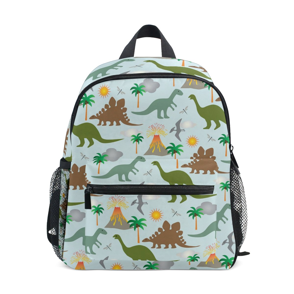 GIOVANIOR Dinosaurs And Volcanoes Travel School Backpack for Boys Girls Kids