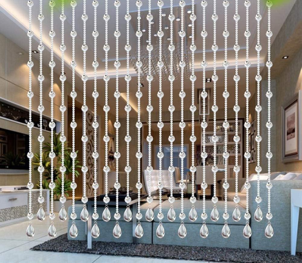 kurt Granos de Cristal Cortinas de partición Decorativos Tabiques Cortinas de Estilo Europeo Sala de Estar Dormitorio Baño Cortinas Múltiples tamaños (Size : 155cm): Amazon.es: Hogar