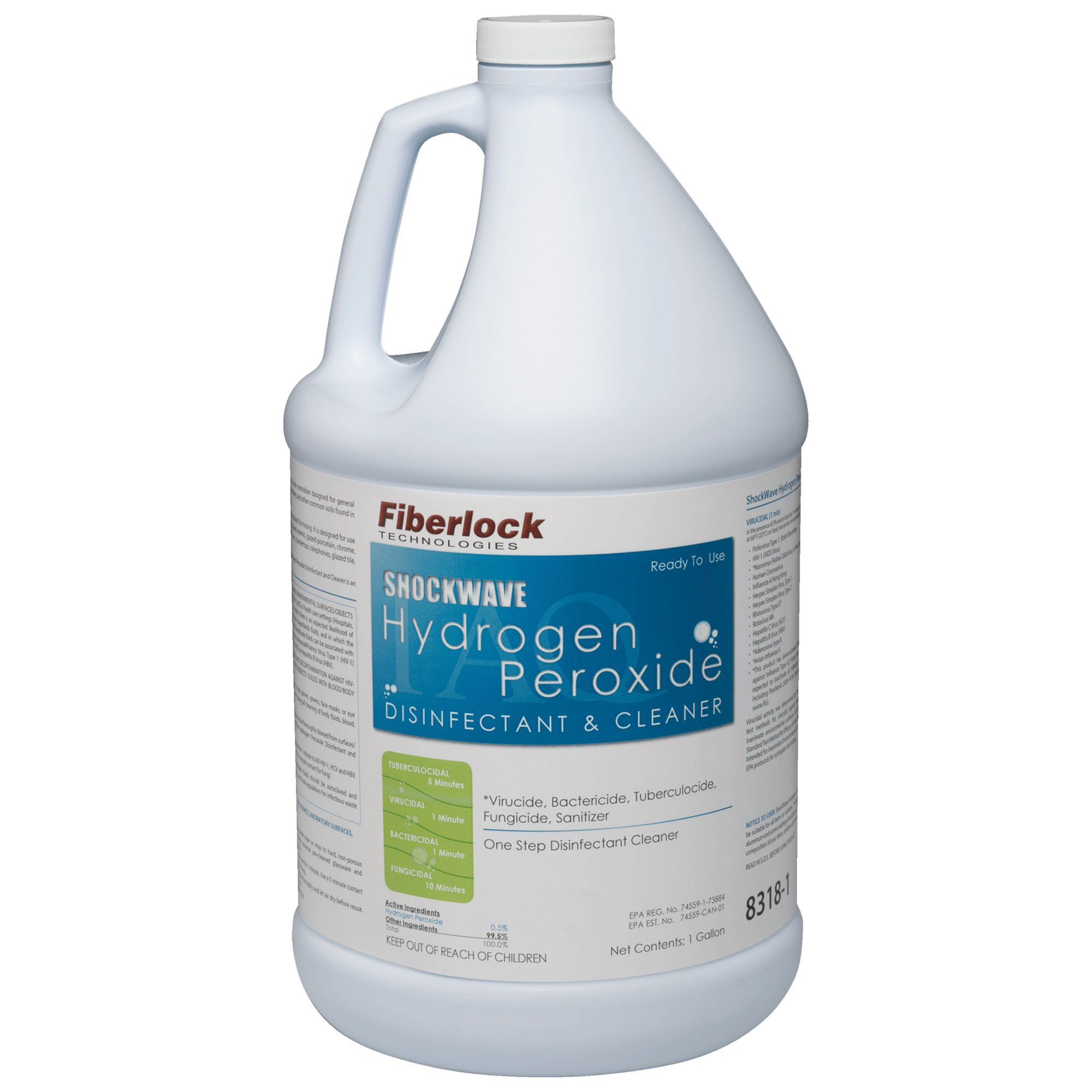 Shockwave 8318 Hydrogen Peroxide Disinfectant and Cleaner - 1 Gallon Bottle