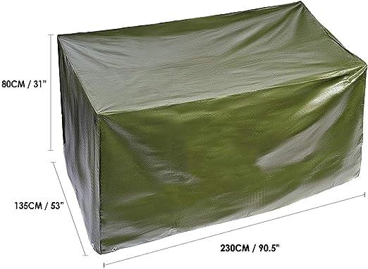 BRAMBLE! Funda para Muebles de Jardín Exterior, Rectangular Grande 230x185x H80cm| Impermeable, Anti-UV, Resistente, Ligero y Fuerte| Cubierta Protección Exterior para Mesa Sillas Sofás.: Amazon.es: Hogar