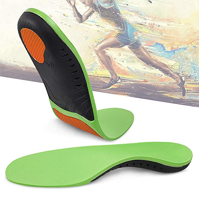 c456a9b74a ... Fasciitis Inserts Arch Support Shoe Inserts Professional Orthotic  Inserts Doctor Recommends for Plantar Fasciitis High Arch Support Flat  Insoles (Green)