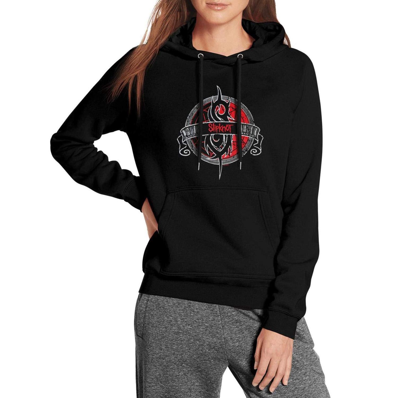 Fleece Long Sleeve GAKIIER Black Womens Pullover Hoodie Sweater Heavy-Metal-Band-Slipknot