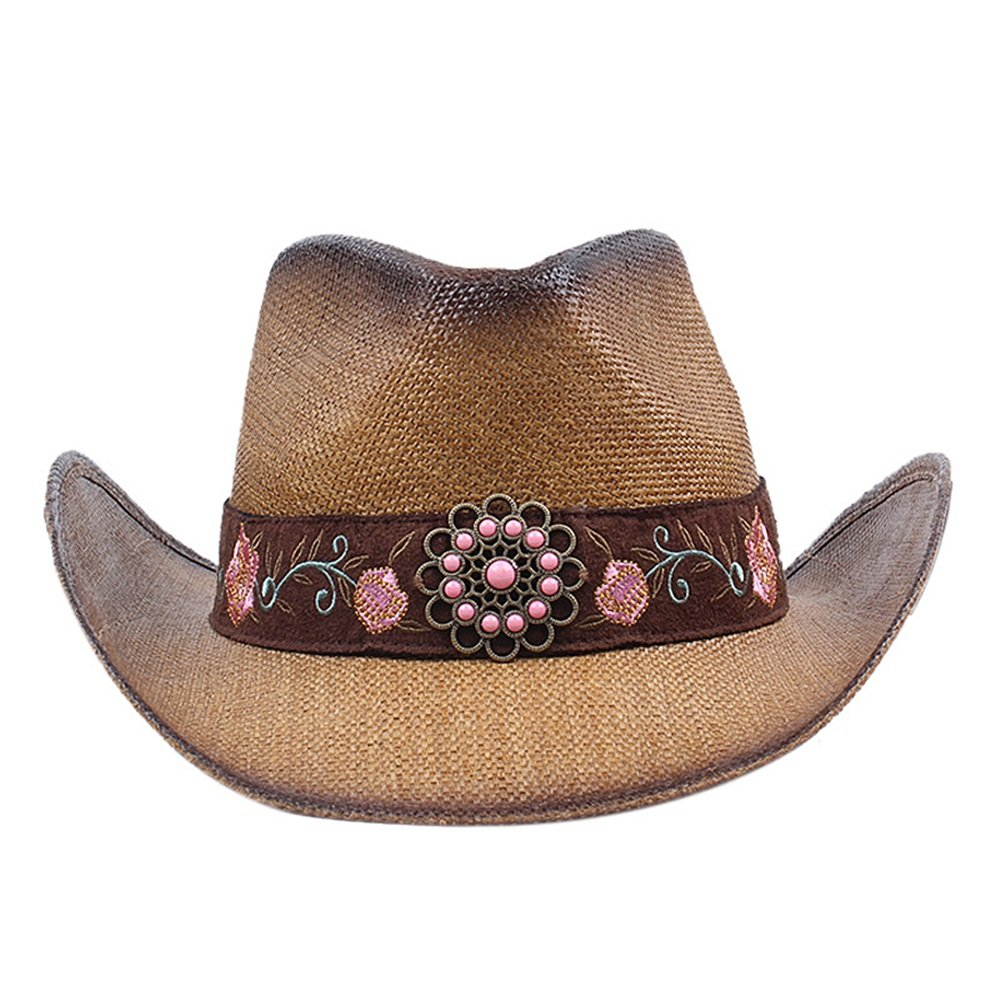 Shuo lan hu wai Herren- und Damenhüte Frühling und Sommer West Cowboys Fisherman Big Along The Young Jazz Straw Hat