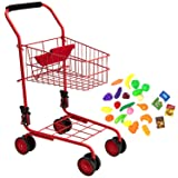 Toy Shopping Cart for Kids and Toddler - Includes
