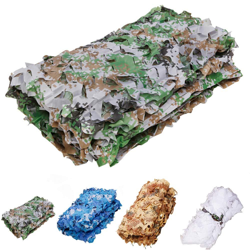 Digital camouflage 44m Camouflage net Chasse Jungle Filet de Camouflage Filet d'ombrage Filet de Soleil 210d Super-Maille de Polyester renforcée(Couleur  Blanc, Bleu, désert, numérique) LZPQ