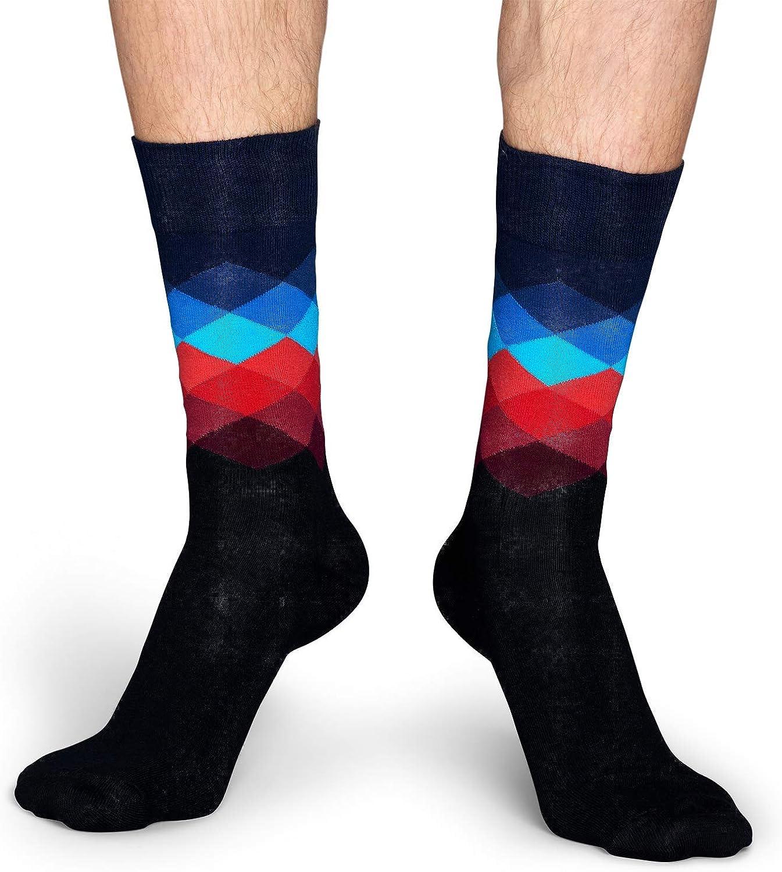para Hombre Happy Socks Faded Diamond Sock Calcetines