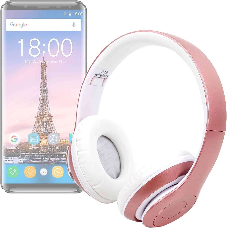 DURAGADGET Auriculares Plegables inalámbricos en Color Rosa para Smartphone OUKITEL K5000: Amazon.es: Electrónica