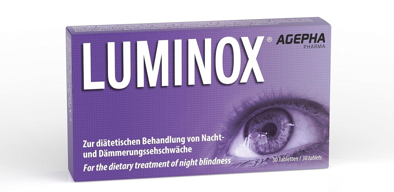 Luminox® Vitaminas Ojos | Mejorar la Visión Nocturna | vitaminas para vista | Ginkgo Biloba Guaraná Acai Arándano | Para baja visión y ceguera nocturna ...