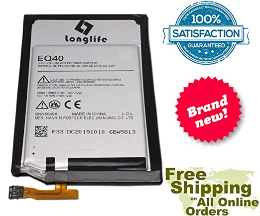 LONGLIFE 3900mAh Battery For Droid Turbo Verizon XT1254 XT1225 SN5949N EQ40