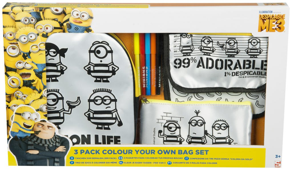 Amazon.com: Sambro MIN13-4567-A Despicable Me 3 Bag Set ...