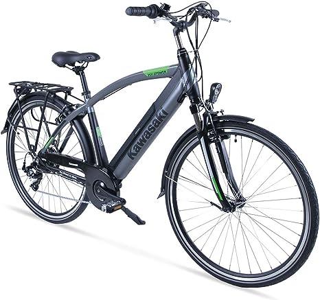 Kawasaki XciteRC - Bicicleta de trekking para hombre (48 cm), color negro y plateado: Amazon.es: Deportes y aire libre
