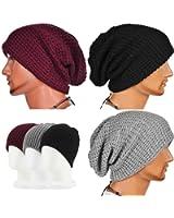 CAMTOA Femme Homme Bonnet Crochet Tricot Laine Chapeau Bonnet Beret Casquette Unisex Hiver Ski