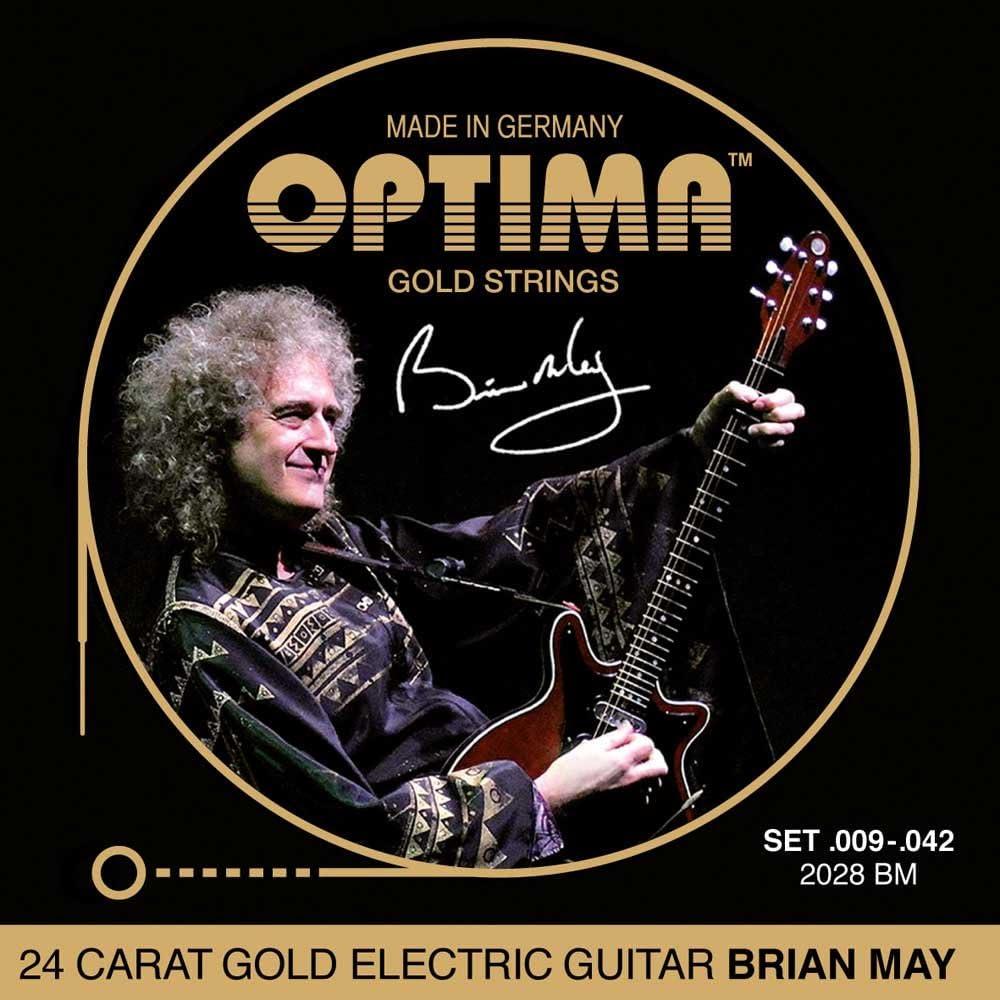 E-Guitar Strings SET OPTIMA 24K GOLD STRINGS E-Gitarren Saiten SATZ 2028