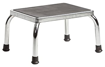 Incredible Secure Sfs 1 Heavy Duty Footstool With Non Skid Rubber Platform Chrome Safe And Sturdy Step For Creativecarmelina Interior Chair Design Creativecarmelinacom