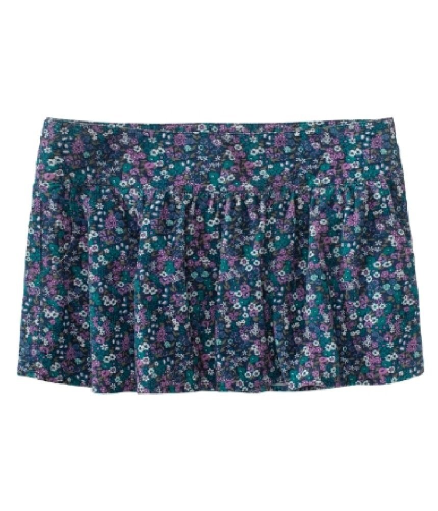Aeropostale Womens Floral Corduroy Mini Skirt teal M - Juniors