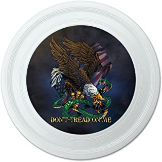 graphique et plus Don't Tread on me Eagle Serpent fantaisie 22,9 cm Flying Disc 9 cm Flying Disc Graphics and More
