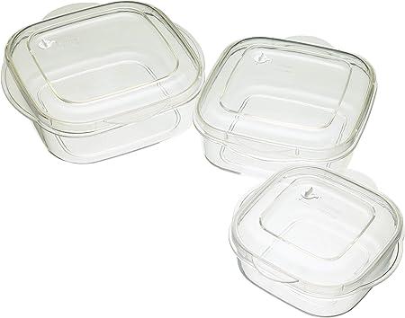 Kitchen Craft - Juego de 3 recipientes para microondas: Amazon.es ...