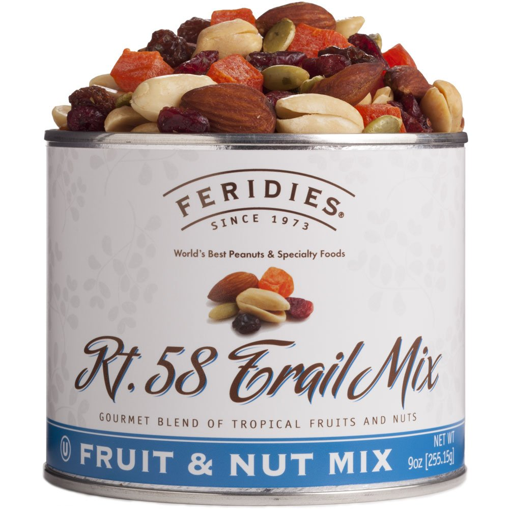 FERIDIES Rt. 58 Fruit and Nut Blend Trail Mix - 9oz Can Vacuum Tin