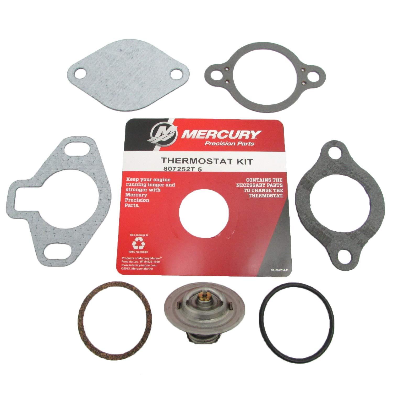 807252T5 Mercury Marine//Mercruiser New OEM 160 Degree Thermostat Kit