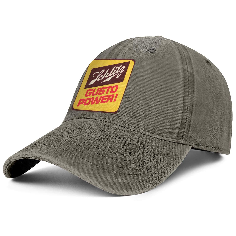 Mens Women Schlitz-Beer-Gusto-Power Cap Classic Cowboy Hats Athletic Caps Denim