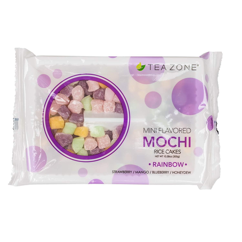 Tea Zone 10.6 oz Rainbow Mini Mochi, 25 Count by TEA ZONE