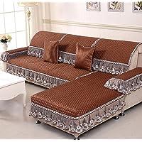 PW Four seasons non-slip fabric solid color sofa cushion