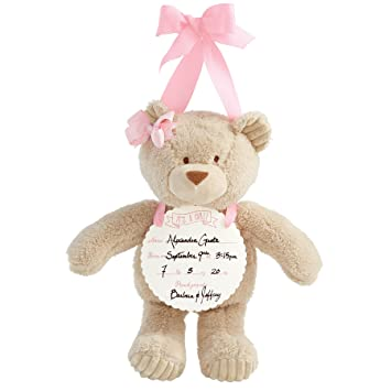 amazon com mud pie plush door hanger baby girl announcement bear