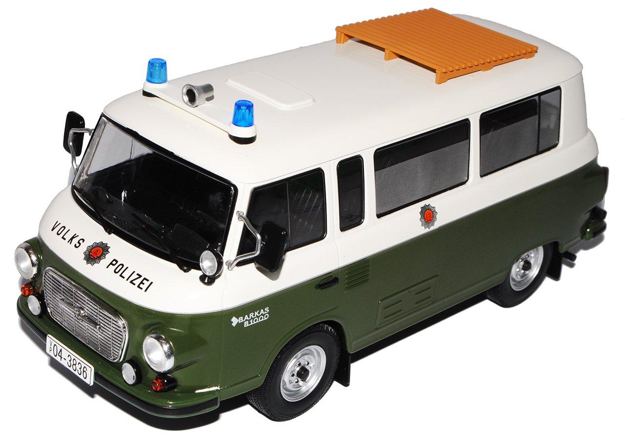 Ixo Barkas B1000 Bus Volkspolizei Grün 1961-1990 1/18 Modell Auto mit individiuellem Wunschkennzeichen