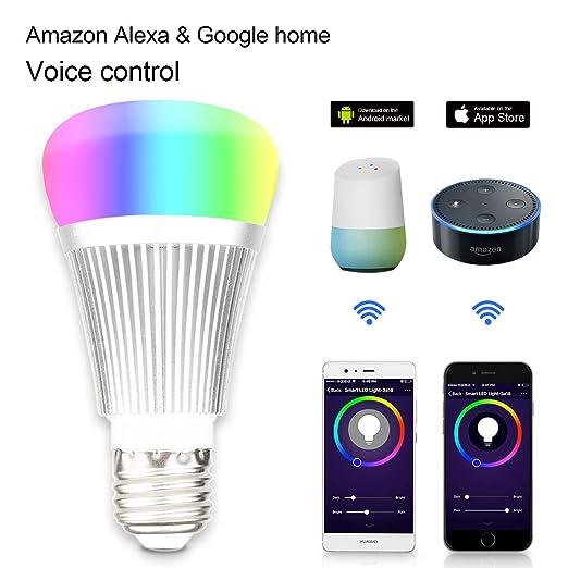 Lampadine Intelligente Lampadine Wifi,Lampadine Senza Fili A Colori  Multicolore,Lampadine A Distanza Principale