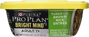 Nestle Purina Petcare 381180 8/10 oz Pro Plan Bright Mind Adult 7+ Turkey & Brown Rice Entreé