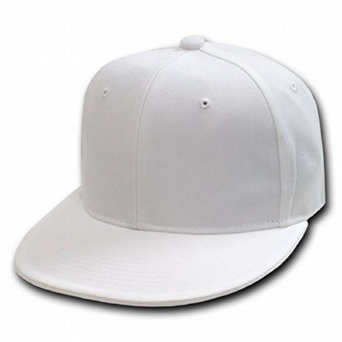 80419d20cc6 Image Unavailable. Image not available for. Color  DECKY WHITE Retro Fitted  Baseball Caps ...