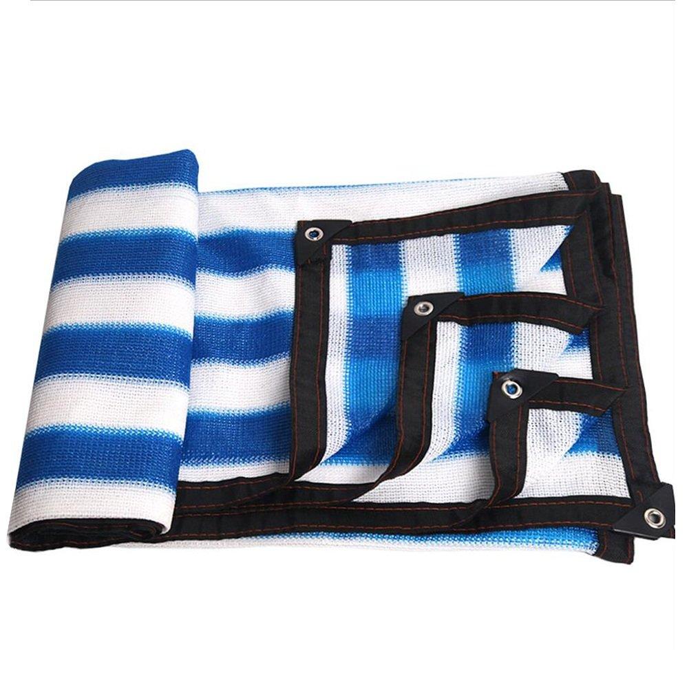 PENGFEI オーニングシェーディングネット 日焼け止め ホーム バルコニー 吸熱 ガゼボ フラワーズ シェード 防塵の ポリエチレン、 複数のサイズ (色 : Blue+white, サイズ さいず : 3x8m) B07FTJVY53 3x8m|Blue+white Blue+white 3x8m