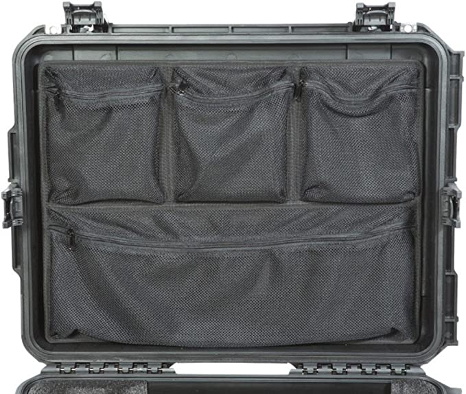 SKB Cases 3i-LO2918-1 iSeries 2918 Lid Organizer Heavy-Duty Nylon Zippers Durable Velcro Type Adhesive Four Convenient Storage Pockets Viewable Mesh Construction