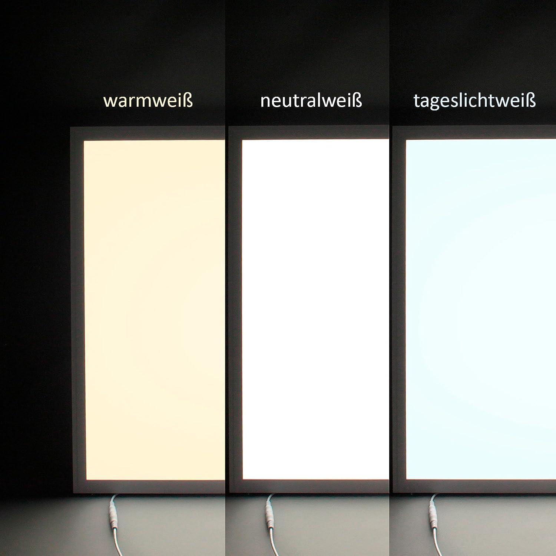 5x Xtend LED Panel dimmbar 62x62 neutralwei/ß 4000K 40W ultraslim Rasterleuchte 0-10V dimmbar Serie Ple2.1