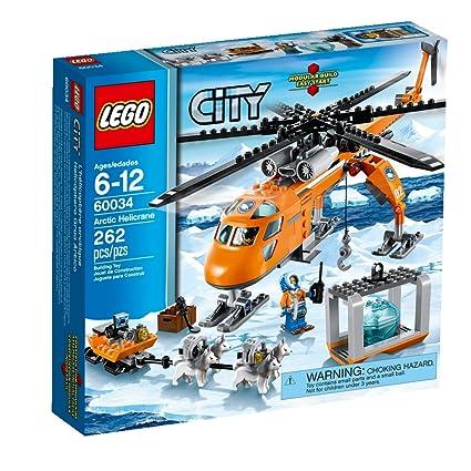 Amazoncom Lego City Arctic Helicrane 60034 Building Toy