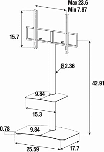 SONOROUS PL-2810 Modern TV Floor Stand Mount/Bracket