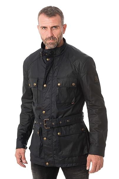 468cb7f924ee Belstaff Men s Waxed Roadmaster Jacket Dark Navy  Amazon.co.uk  Clothing