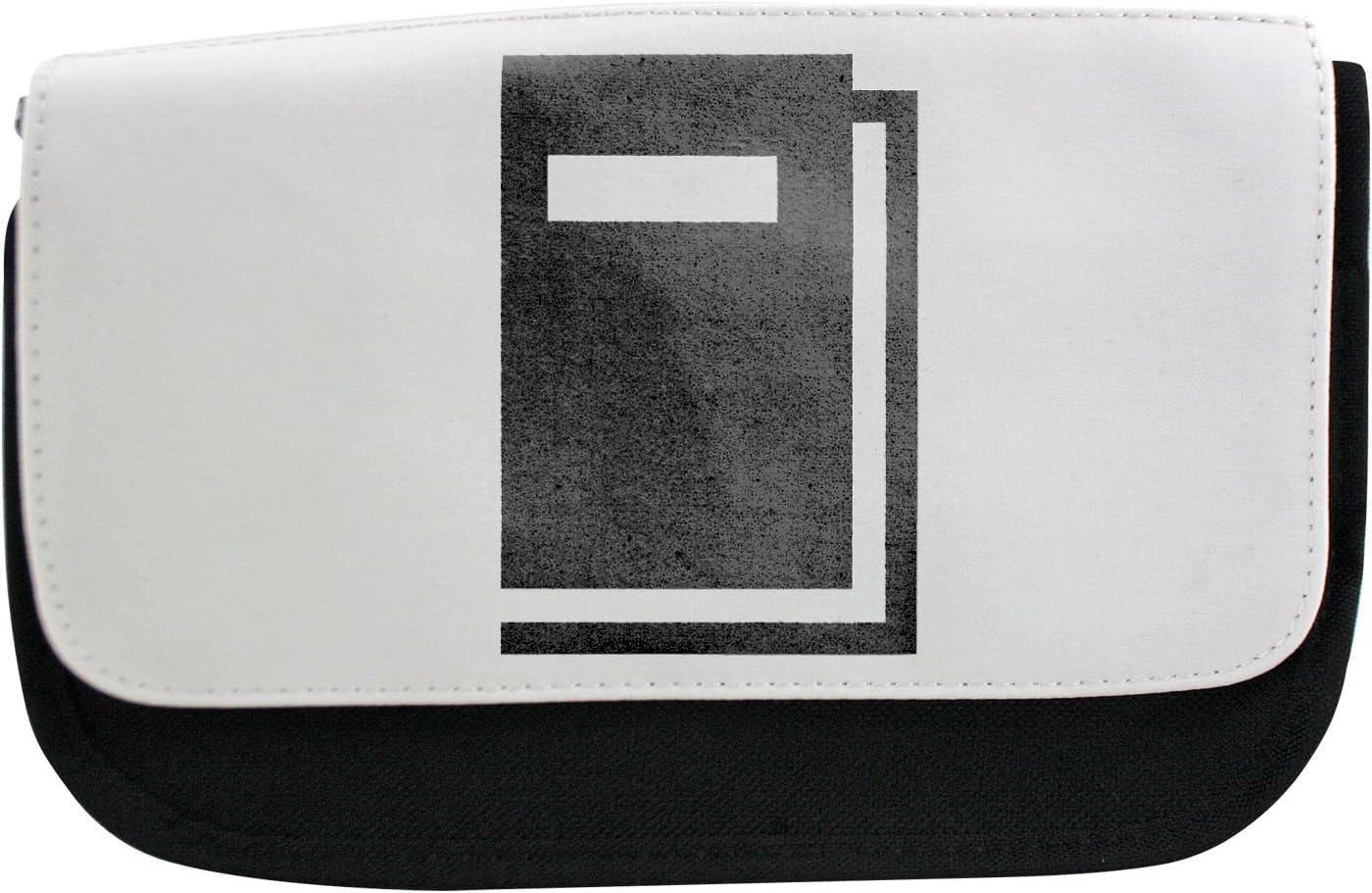 Negro libro pictograma estuche, maquillaje bolsa, Multibag: Amazon.es: Oficina y papelería