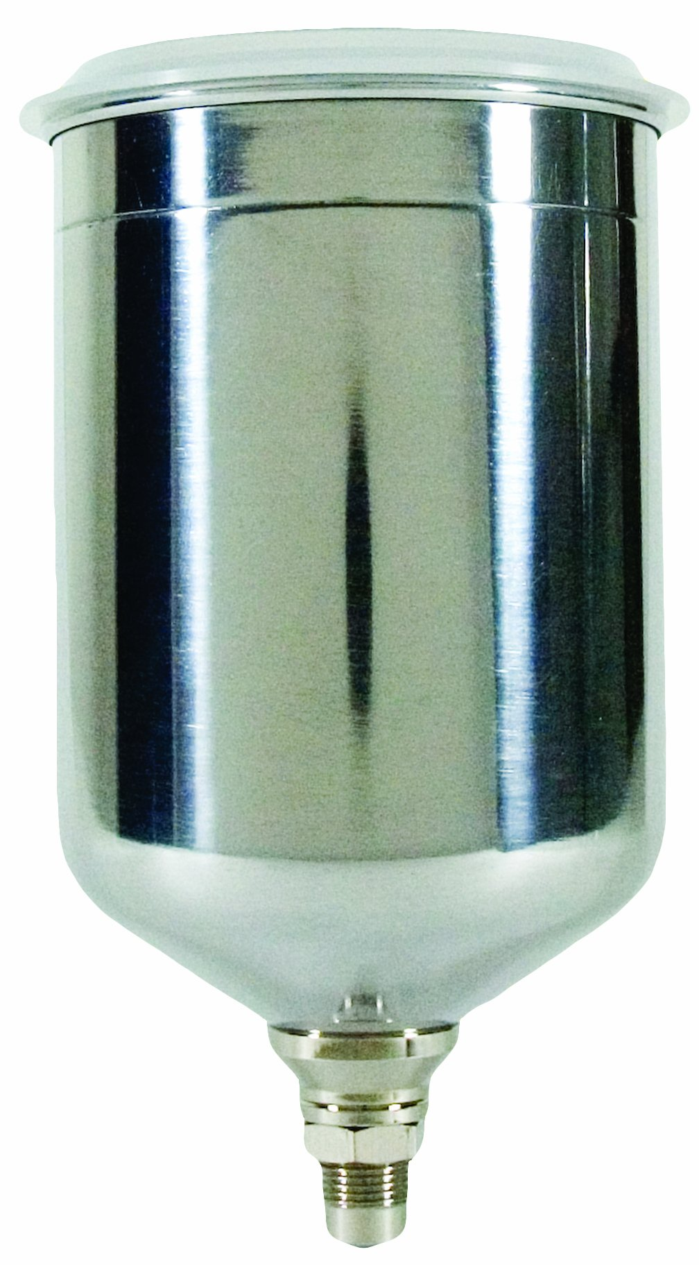 Tekna 702576 900cc Gravity Feed Aluminum Cup with Plastic Push-On Lid