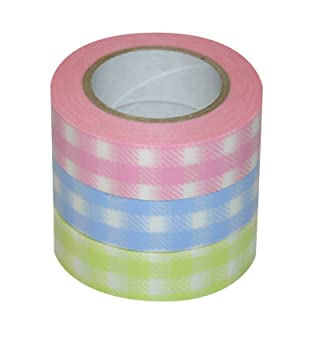Dcor washi tape 3 piece set cheque light pink cheque light blue dcor washi tape 3 piece set cheque light pink cheque light blue cheque aloadofball Image collections