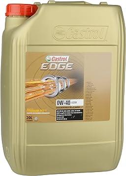 Castrol Motoröl Motorenöl Motor Motoren Öl Motor Engine Oil 0w 40 Edge Titanium Fst A3 B4 Benzin Diesel Hybrid 20l 15336a Auto