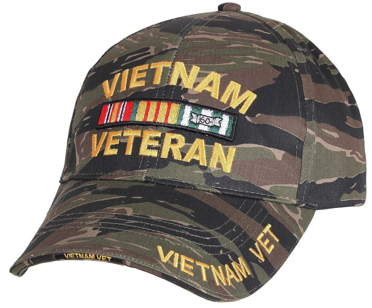 Vietnam Veteran Low Profile Tiger Stripe Camo Ball Cap at Amazon Men s  Clothing store  2e1136da422